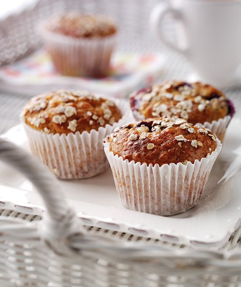 Blueberry & Oat Muffins Recipe
