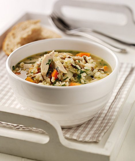 Chunky Chicken & Rice Soup Recipe