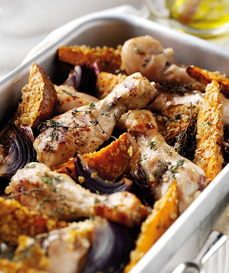 One Pot Chicken & Oaty Sweet Potato Roast Recipe