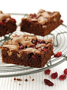 Chocolate & Cranberry Brownie Recipe