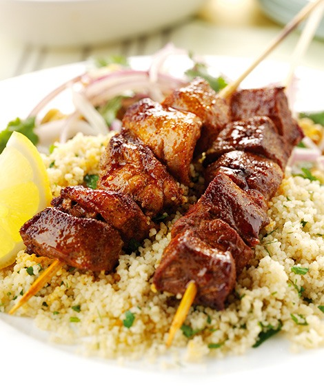 Moroccan Pork Kebab Recipe with Cous Cous