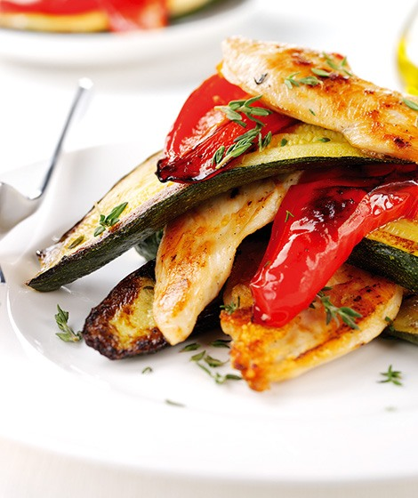 Roasted Pepper & Courgette Chicken Breast Recipe