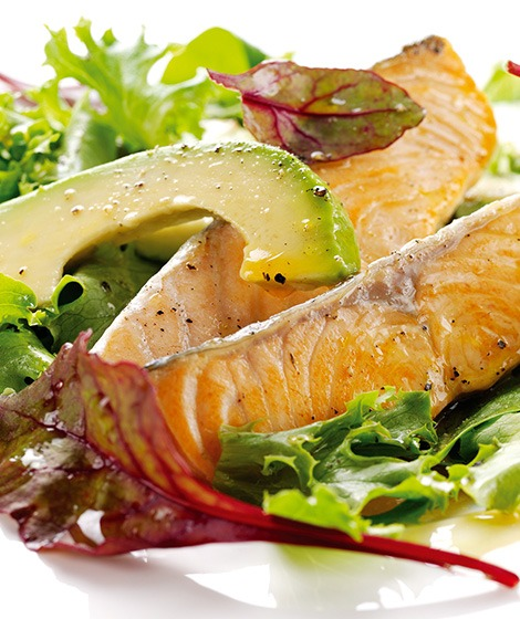 Salmon & Avocado Salad Recipe with Lemon Dressing
