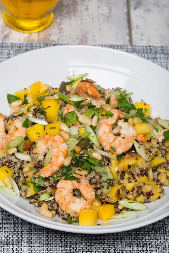 Dean Edwards Quinoa Prawn Salad with Yuzu Dressing