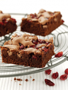 Chocolate and Cranberry Brownies recipe image